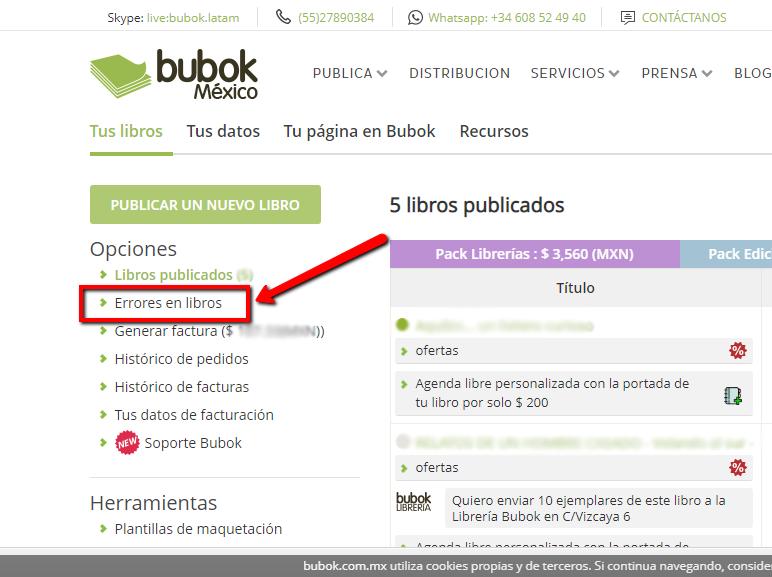 detección de errores-bubok
