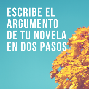 Desarrolla el argumento de tu novela en solo dos pasos