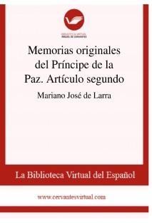 Memorias originales del Príncipe de la Paz. Artículo segundo