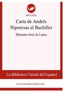 Carta de Andrés Niporesas al Bachiller