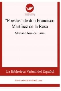 """""""Poesías"""" de don Francisco Martínez de la Rosa"""
