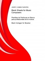 Libro Blank Sheets for Music Composers, autor JOSÉ REMIGIO GOMIS FUENTES