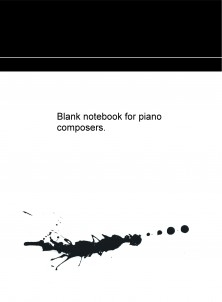 Blank notebook for piano composers.