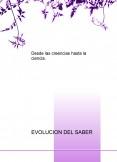 EVOLUCION DEL SABER