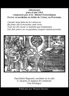 Almanaque para 1563 de Nostradamus