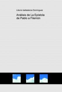 Análisis de La Epístola de Pablo a Filemón