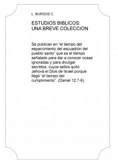 ESTUDIOS BIBLICOS: UNA BREVE COLECCION