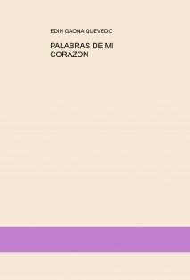 PALABRAS DE MI CORAZON
