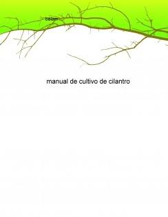 manual de cultivo de cilantro