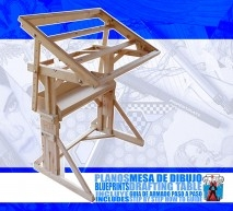 PLANOS MESA DE DIBUJO /DRAFTING TABLE BLUEPRINTS