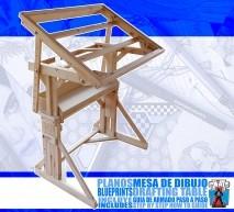 PLANOS MESA DE DIBUJO /DRAFTING TABLE BLUEPRINTS