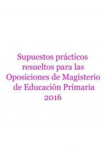 Supuestos prácticos resueltos de primaria