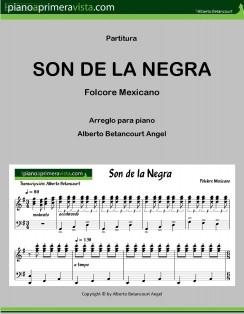 Arreglo para piano de EL SON DE LA NEGRA (ebook)