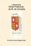 Obras Póstumas de M. de Grimaldy