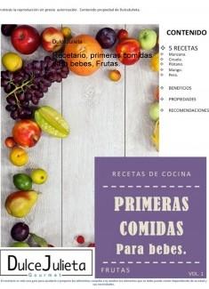 Recetario, primeras comidas para bebes, Frutas.