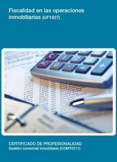 UF1927 - Fiscalidad en las operaciones inmobiliarias