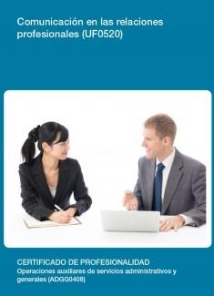 UF0520 - Comunicación en las relaciones profesionales